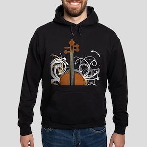 Violin Swirls (for dark colours) Hoodie (dark)