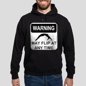 Warning may flip Hoodie (dark)