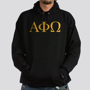 Alpha Phi Omega Letters Yellow Hoodie (dark)