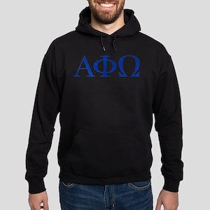 Alpha Phi Omega Letters Blue Hoodie (dark)
