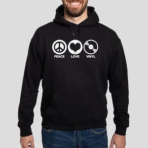 Peace Love Vinyl Hoodie (dark)