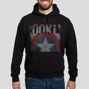 Captain America Brooklyn Distressed Hoodie (dark)