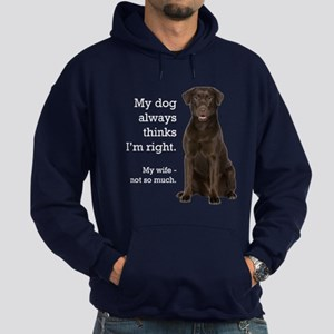 Chocolate Lab v. Wife Hoodie (dark)