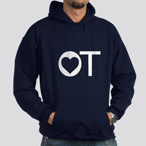 OT Occupational Therapy Heart Hoodie (dark)