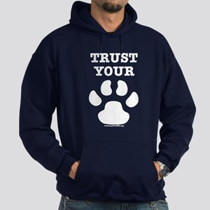 Trust Your Dog - Paw Print Hoodie (dark)