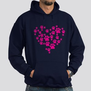 Heart of Paw Prints Hoodie (dark)
