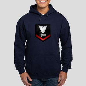 Navy PO3 Postal Clerk Hoodie (dark)