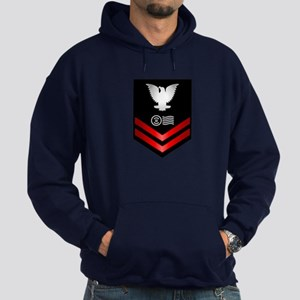 Navy PO2 Postal Clerk Hoodie (dark)