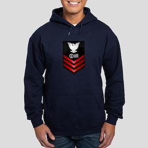 Navy Postal Clerk First Class Hoodie (dark)