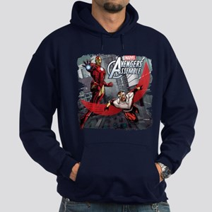 Falcon and Iron Man Hoodie (dark)