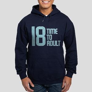 Time to Adult Blue Hoodie (dark)