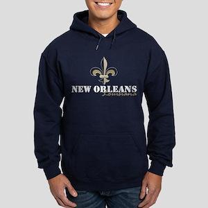 New Orleans Louisiana gold Hoodie (dark)