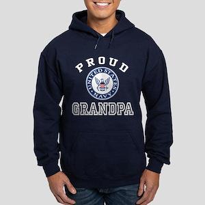 Proud US Navy Grandpa Hoodie (dark)