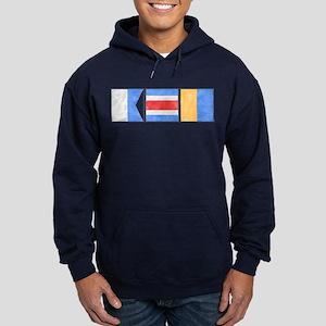 """Nantucket """"ACK"""" Signal Flag Hoodie (dark)"""