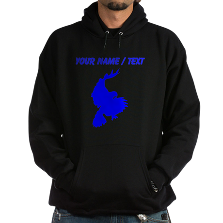 Custom Blue Hawk Silhouette Hoody