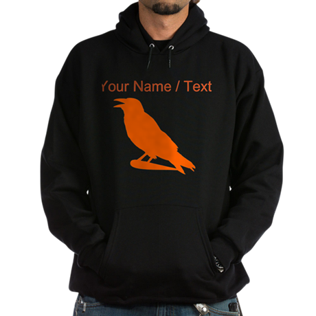 Custom Orange Crow Silhouette Hoody
