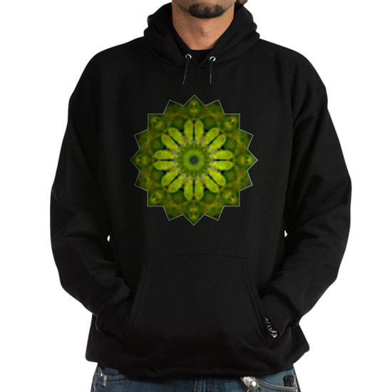 Green Flower Heart Chakra Mandala Yoga Shirt
