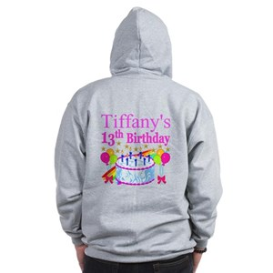 PERSONALIZED 13TH Zip Hoodie