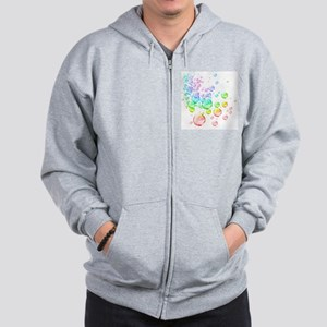 Colored bubbles Zip Hoodie