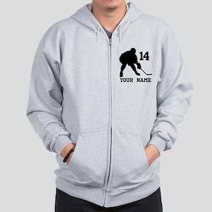 Custom Hockey Player Gift Zip Hoodie