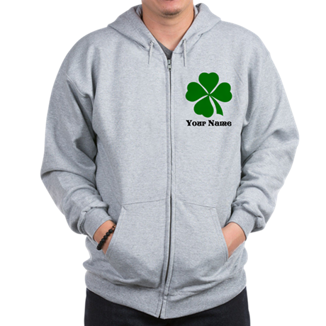 Personalized St Patrick's Day Zip Hoodie