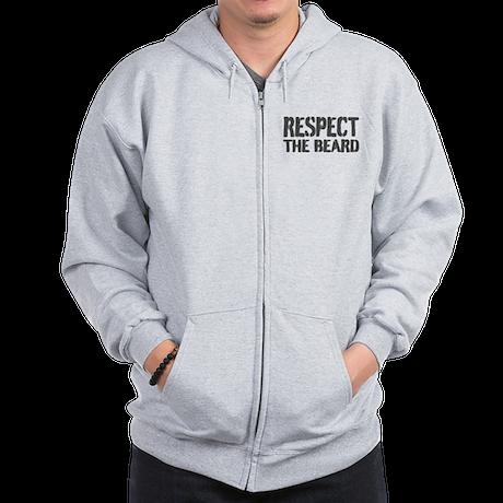 Respect the beard Zip Hoodie
