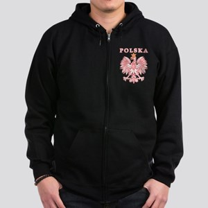 Polska Red Polish Eagle Zip Hoodie (dark)