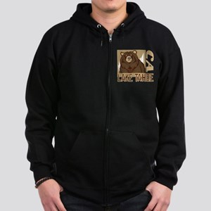 Lake Tahoe Grumpy Grizzly Zip Hoodie (dark)
