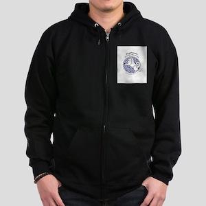 Eyjahunda Logo White Background Zip Hoodie (dark)