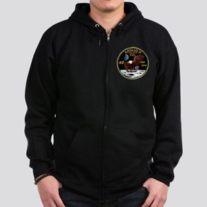Apollo 11 45th Anniversary Zip Hoodie (dark)