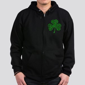 Irish Shamrocks Zip Hoodie (dark)