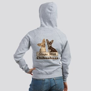 Sleeps With Chihuahuas Women's Zip Hoodie