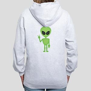 Aliens Rock Women's Zip Hoodie