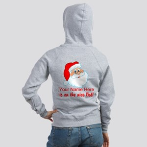 Personalized Nice List Women's Zip Hoodie