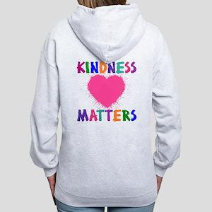 KINDNESS MATTERS (2-sided) Women's Zip Hoodie