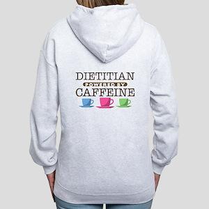 Dietitian Powered by Caffeine Women's Zip Hoodie