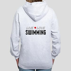 Live Love Swimming Women's Zip Hoodie