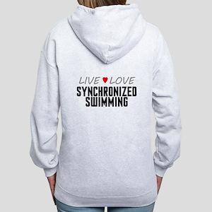 Live Love Synchronized Swimming Women's Zip Hoodie