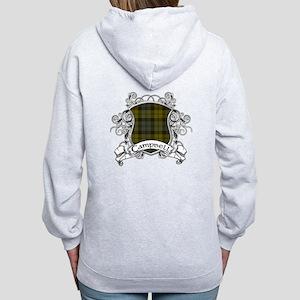 Campbell Tartan Shield Women's Zip Hoodie