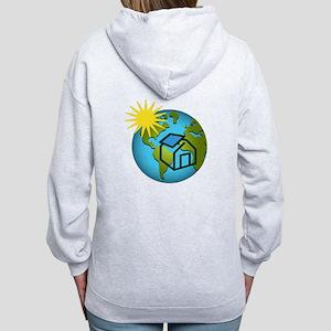 Solar Power Earth Women's Zip Hoodie