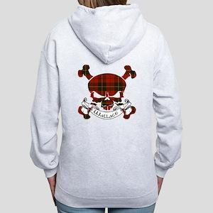 Wallace Tartan Skull Women's Zip Hoodie