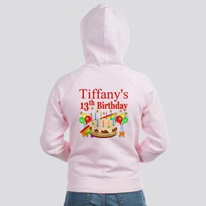 PERSONALIZED 13TH Women's Zip Hoodie