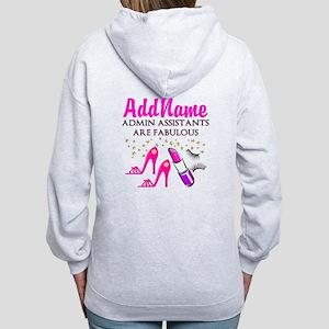 BEST ADMIN ASST Women's Zip Hoodie