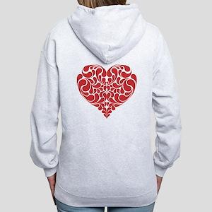 Real Heart Women's Zip Hoodie