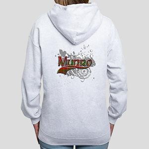 Munro Tartan Grunge Women's Zip Hoodie
