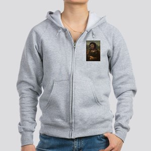 restored Mona Lisa Women's Zip Hoodie
