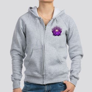 Chakra Lotus - Crown Violet Women's Zip Hoodie
