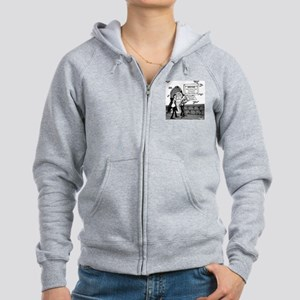 5199_mortuary_cartoon Women's Zip Hoodie