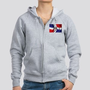 Flag of the Dominican Republic Women's Zip Hoodie