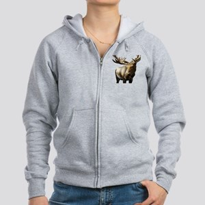 Moose Photos Women's Zip Hoodie